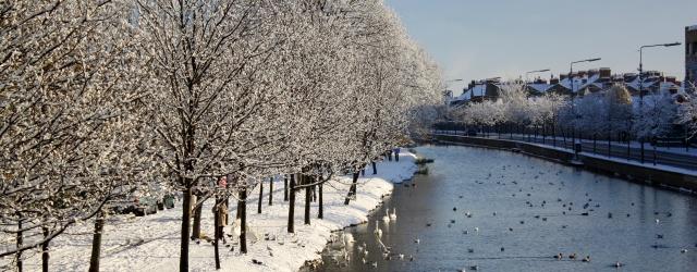 Winter view from Robert Emmet bridge