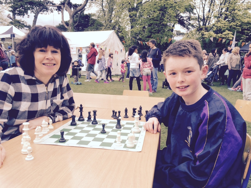 Darragh Moran and April Cronin - last man standing in Sundays Chess Challenge