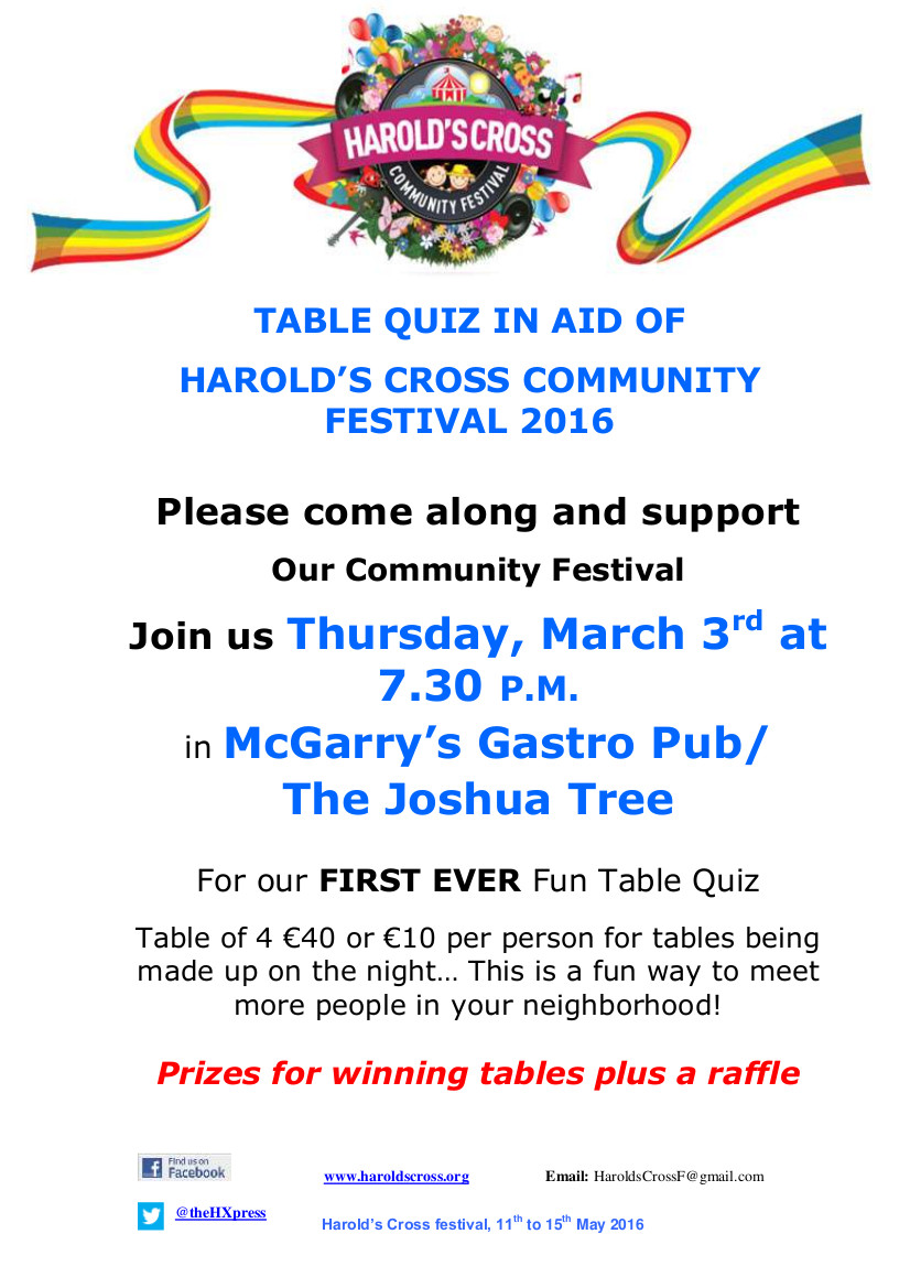 Table Quiz Flyer