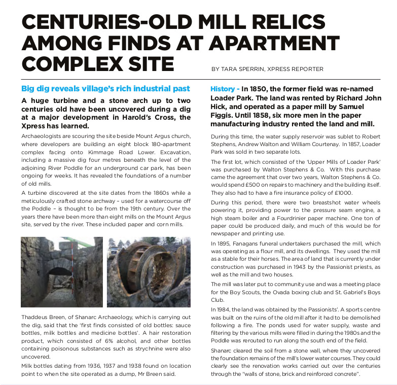 HX_Newsletter_spring - Mill site in archaoligical dig