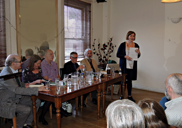 Alison O'Connor with all 5 poets