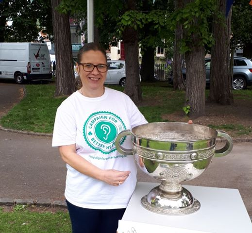 Kathryn with the Sam Maguire Cup